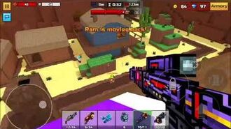 Pixel Gun 3D-A 6min clip of Ice paws in action. By PurpleSecretAgent