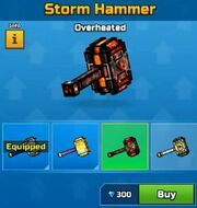 Overheated StormHammer