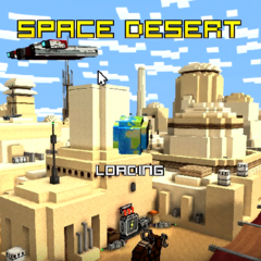 The loading screen of Space Desert.