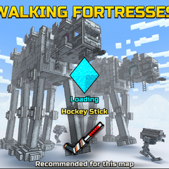 The loading screen of Walking Fortresses.