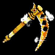 Gold anime scythe