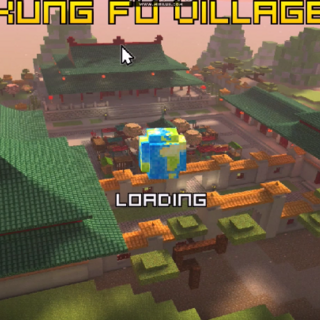 The loading screen for Kung Fu Village.