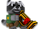 Raccoon With a Pipe