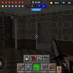 Inside a house.