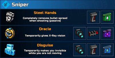 Sniper Mod Abilities