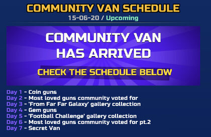 Community Van Schedule