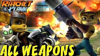 Ratchet and Clank 1, 2 & 3 - All Weapons