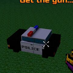 thumb|A police car, which can be found in the map's exterior.