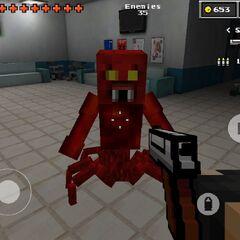 Pixel Gun in use.