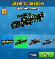 Cyber Necromancy Laser Crossbow