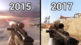 Weapon Comparison Battlefront (2015) vs Battlefront 2 (2017) Graphics and Sounds
