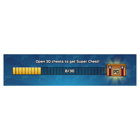 The Super Chest and the bar that indicates how many Event Chests were opened. The bar looked like this in the 12.1.0 and 12.2.0 updates.