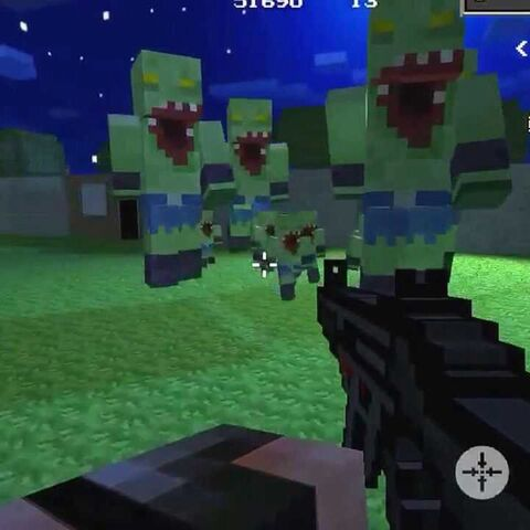 Grunt Zombies along with Giant Grunt Zombies in the Deadly Arena.
