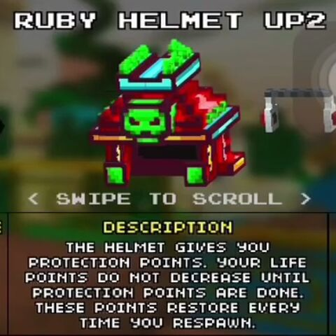 Heavy Ruby Helmet.