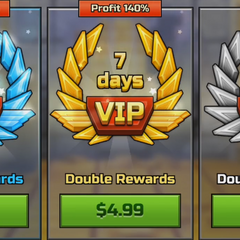 A VIP account can be bought with microtransactions.