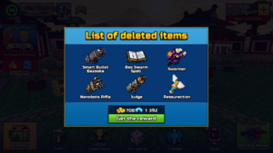 Removed Items 15.2.0