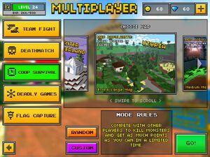 Co-op survival screen