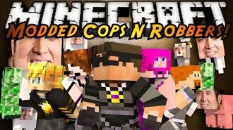 Minecraft Mini-Game MODDED COPS N ROBBERS! NICHOLAS CAGE!