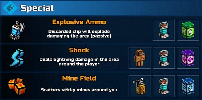 Special Mod Abilities