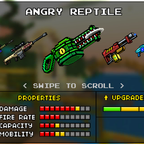 The Angry Reptile, which was the upgrade of the Razor Thrower. It was replaced by the current Razor Thrower in the 8.3.0 update. It appeared to the form of a green alligator with a circular razor in its mouth.