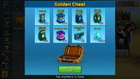 Golden chest opening