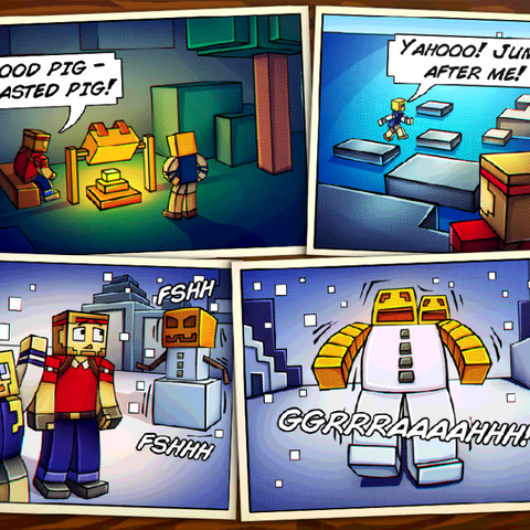 The Story Comic for Winter Island.