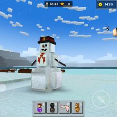 A giant snowman.