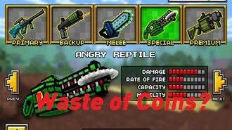 Pixel Gun 3D Angry Reptile Gun Review iOS Android