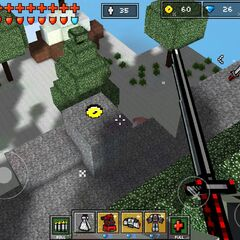 An example of a hidden coin in a campaign level.