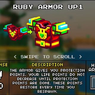 Medium Ruby Armor.