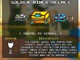 Golden Miner Helmet