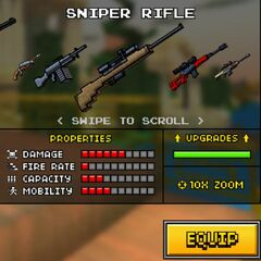 The Sniper Rifle in the old shop.
