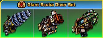 Giant Scuba Diver Set Fixed