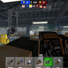 The robotic crane, placed on the ceiling on the facility.