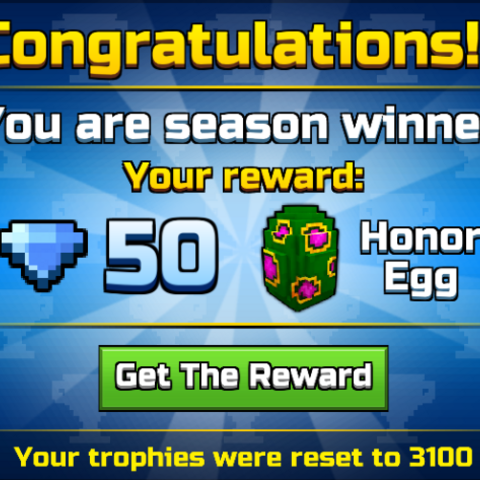 Rewards when you are one of the top 100 players in the Tournament leaderboards.