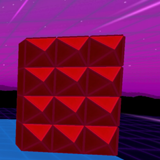 A half red-spike wall, which is 3x4.
