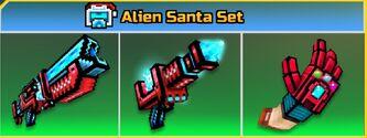 Alien Santa Set