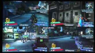 Borderlands 4 Player Split Screen Gameplay from The Handsome Collection - PAX South 2015