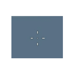 Crosshair for most bullet weapons.
