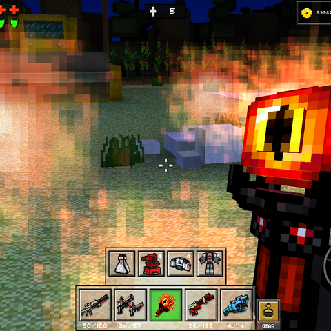The area damage effect of the Fire Orb.