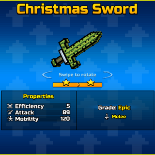 Cactus Sword, its former upgrade.