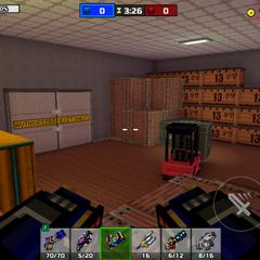 The storage room.