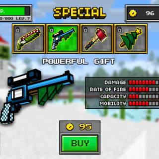 This weapon's old look, name and its price tag.