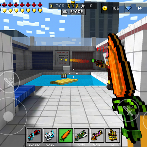 A player shooting with the Hot Plasma Pistol, disguised as the <a href=