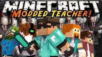 Minecraft Mini-Game MODDED TEACHER! SLENDER!