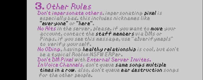 PIXARIA RULES 3