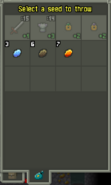 Seed Pouch Alchemy Pot interaction