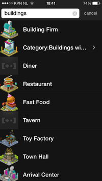 Screenshot Wikia Game Guides app - Buildings