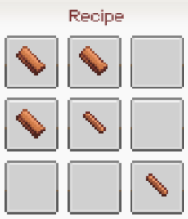 Pickaxe wood recipe
