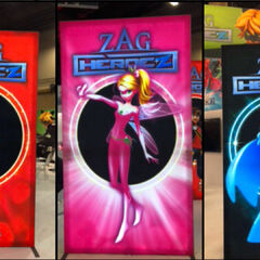 A Zag Heroez poster during the 2018 Licensing Expo.
